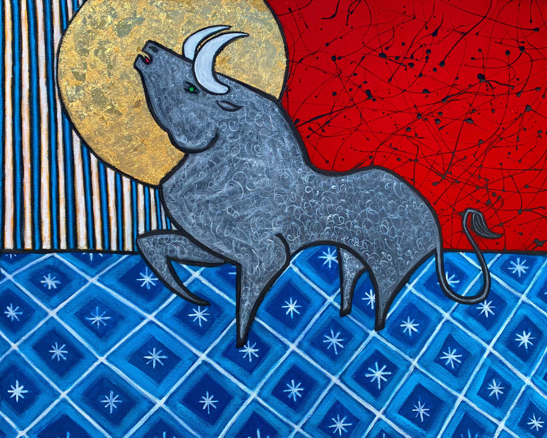 Taurus bull painting artist paul zepeda dfhl8x