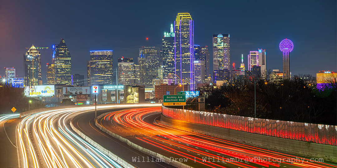 Dallas skyline and freeway sm aluoey