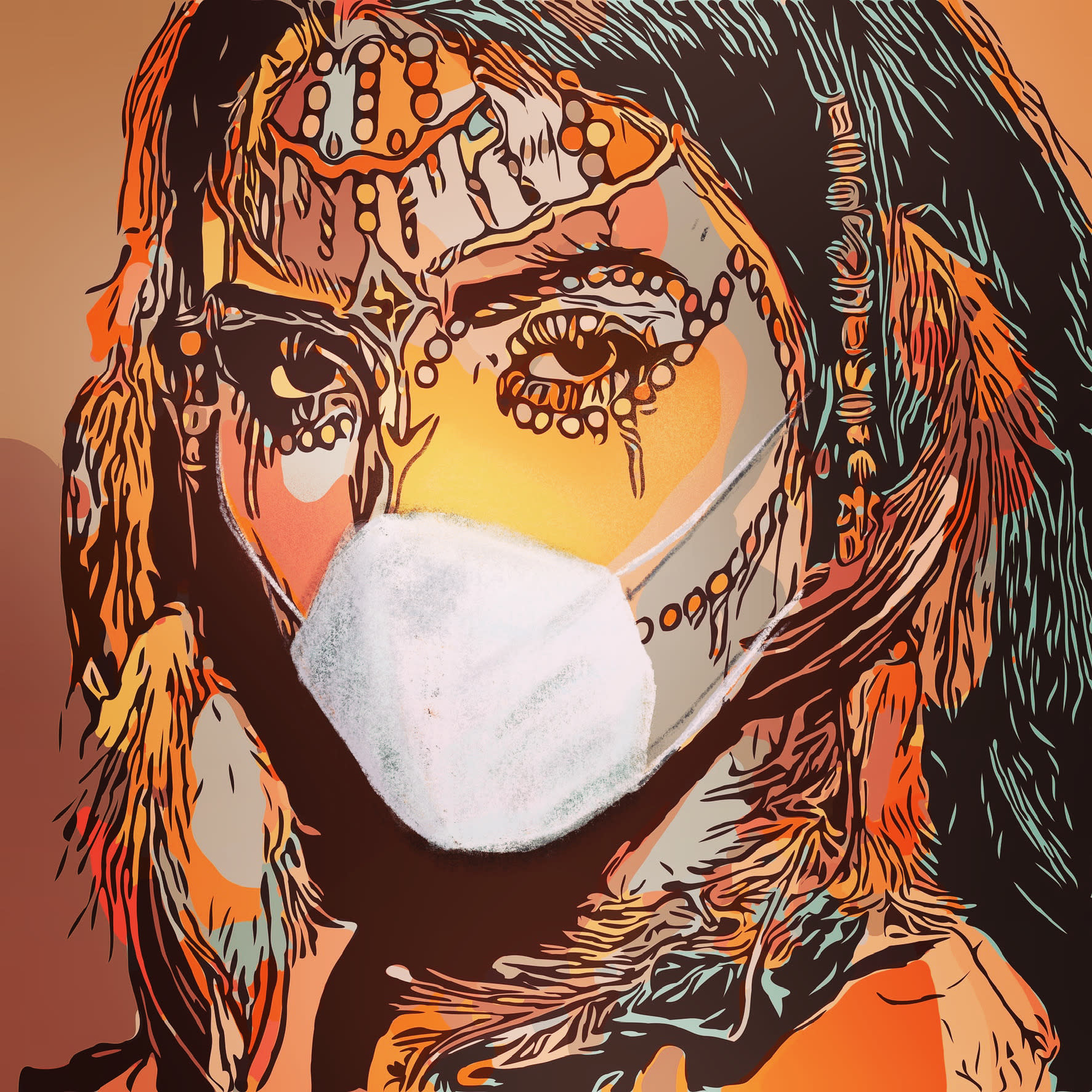 Juan ro corona tribus 50 x 70 digital afgzuc