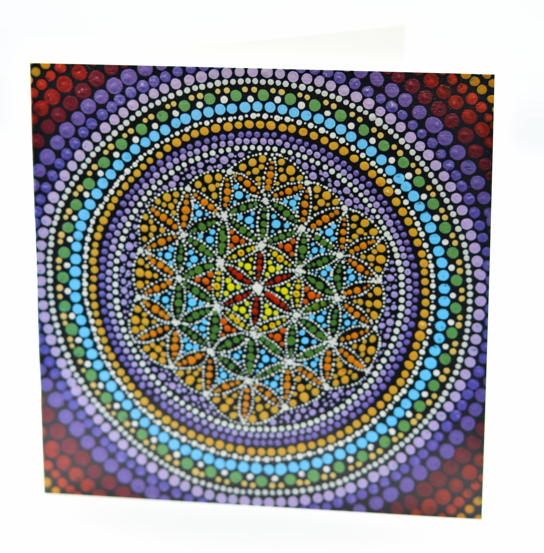 Lakshmi sriraman note card flower of lifel 5 tdtikl