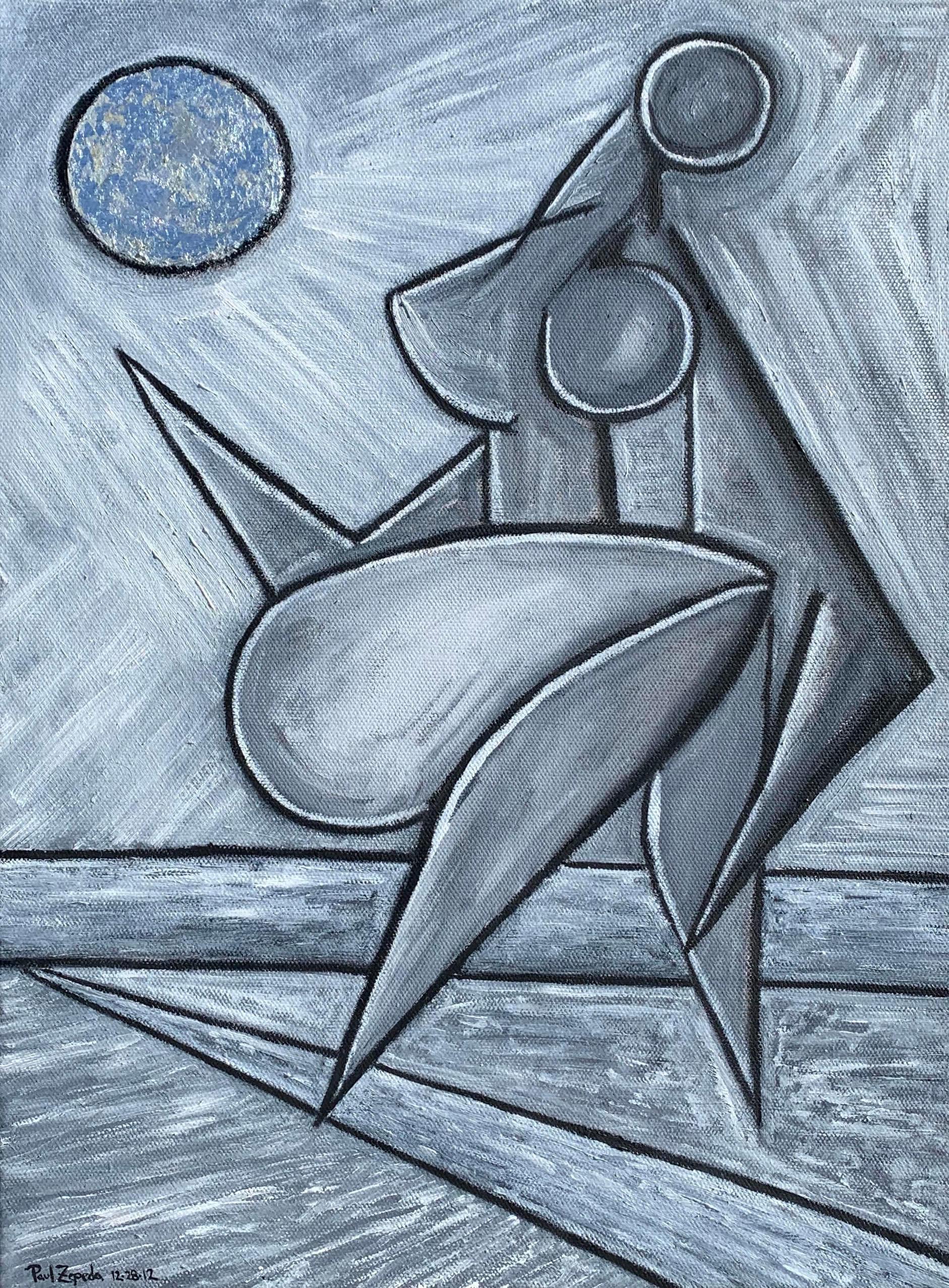 Moonlight figure painting artist paul zepeda zwpxgs