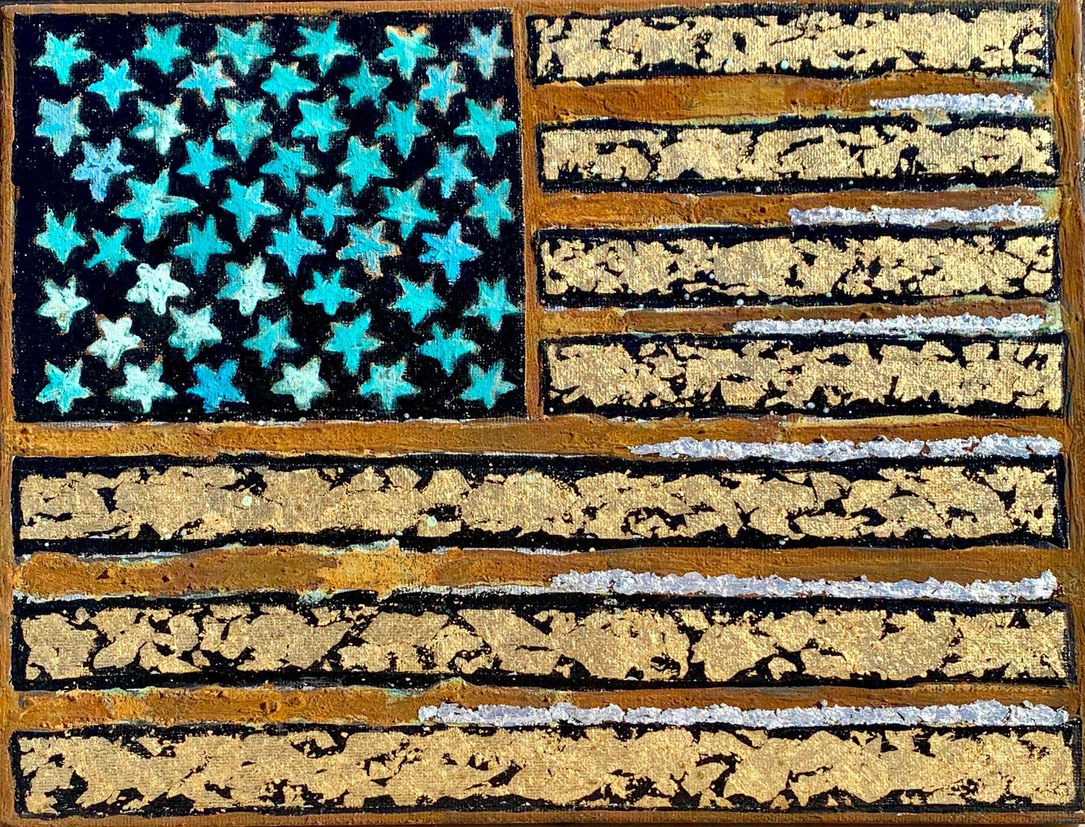 Rusty american flag artist paul zepeda n33jgl