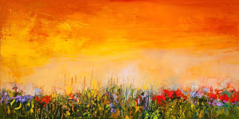 Tracy lynn pristas sold original abstrat floral painitng wrvj3q