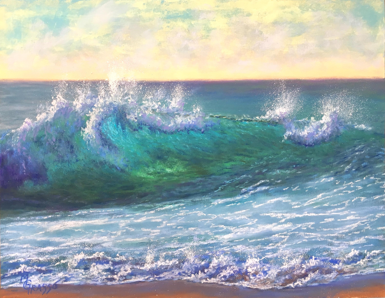 Turquoise morning surf gomadc