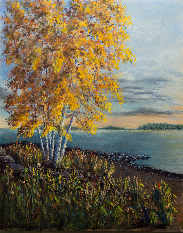 Autumn birches med xdfqci