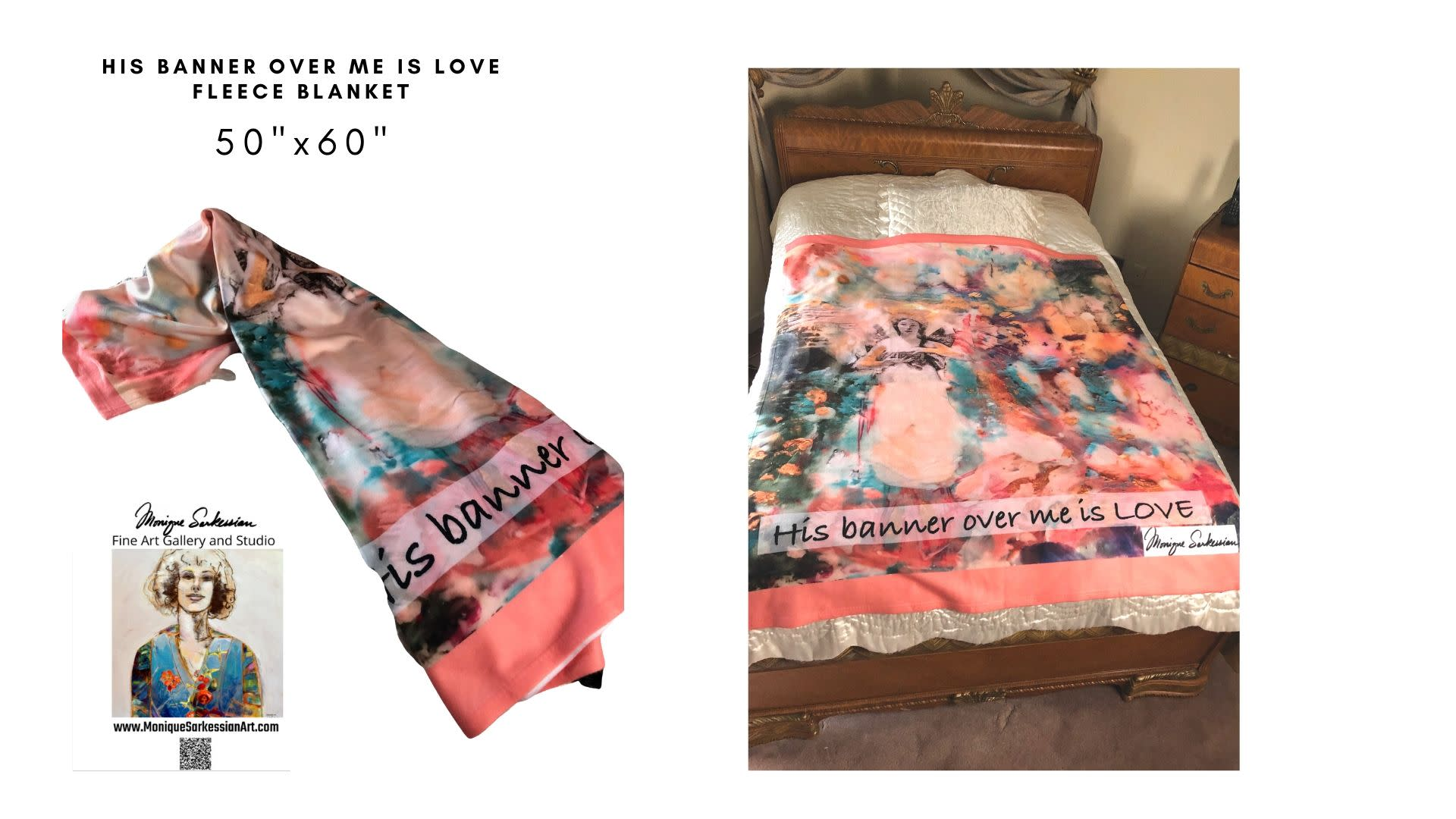 Monique sarkessian his banner over me is love blanket x3jg66