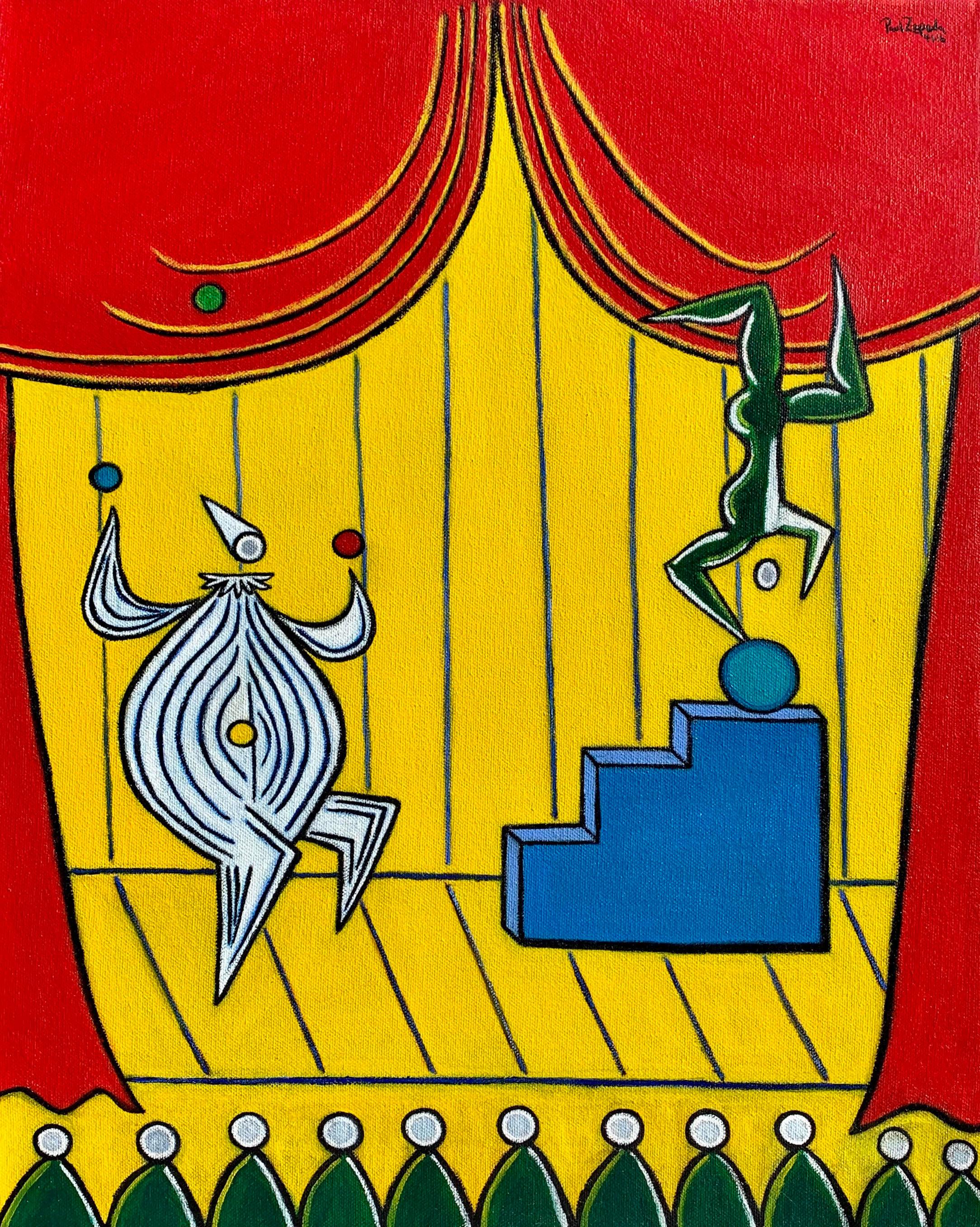 Cirque circus painting artist paul zepeda ceqczj