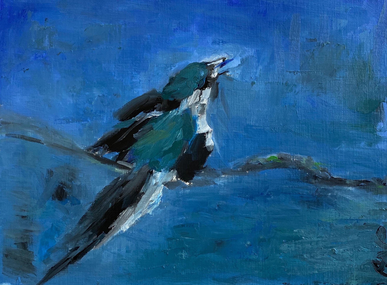 Bluebirdoilpaintingonpaper ob4eb2
