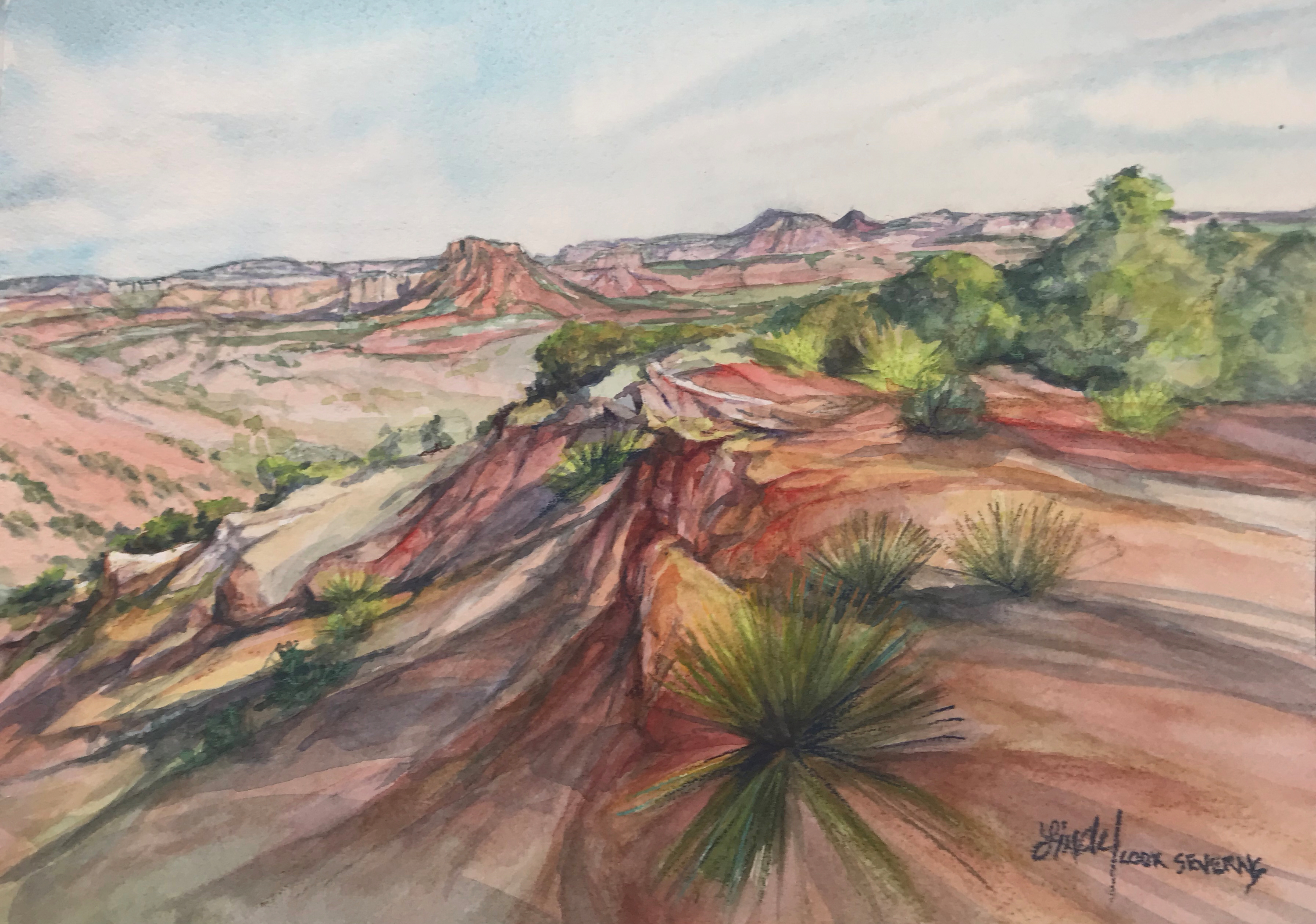 Canyon heat 9x12 watercolor lindy cook severns g3ff9q
