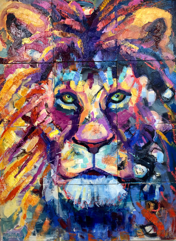 Prophetic ready to roar 2 oil 24x18 dgse7i