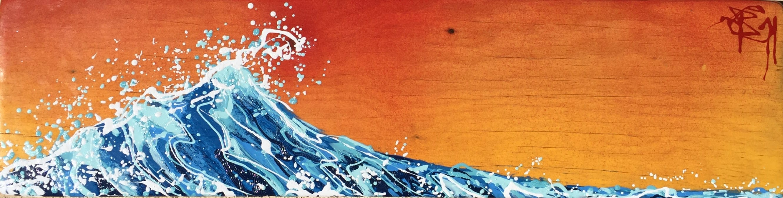 Wave of joy sunset 8x30  fhrbsc