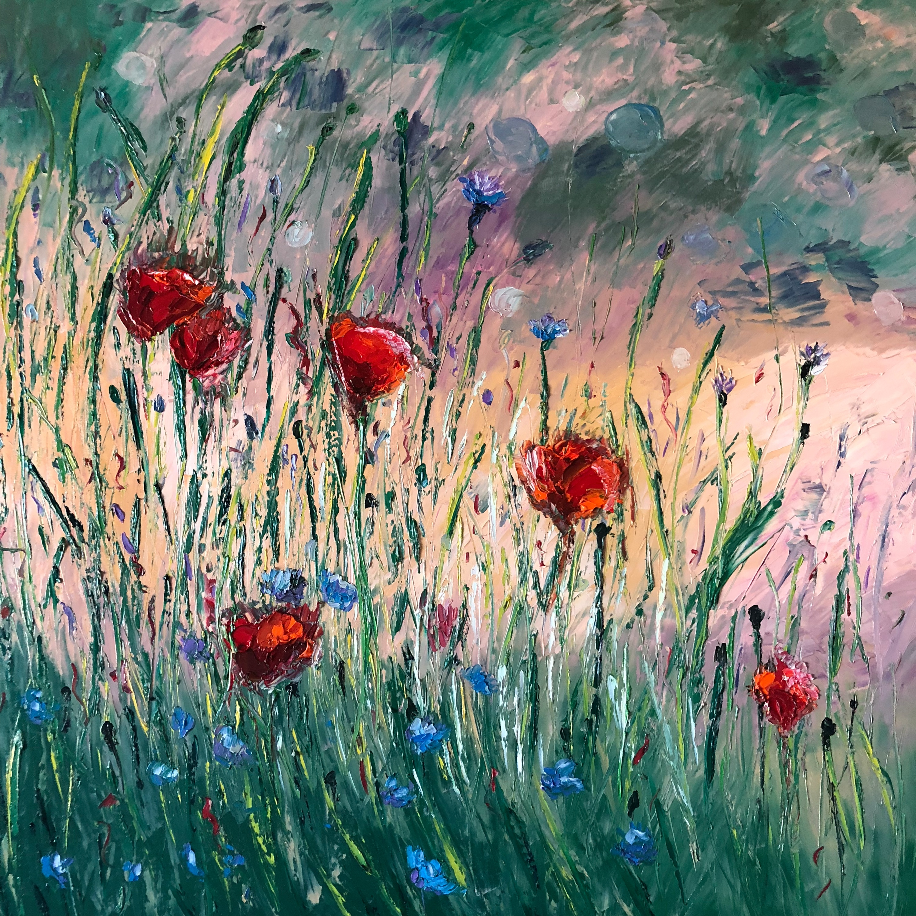 Poppies in pastel znessd