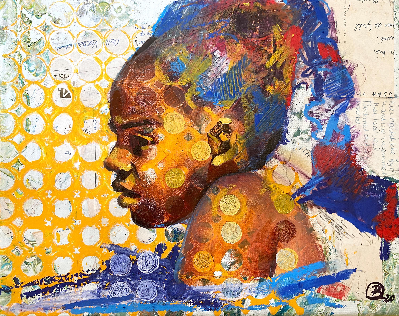Caribbean girl in blue jxx6qp