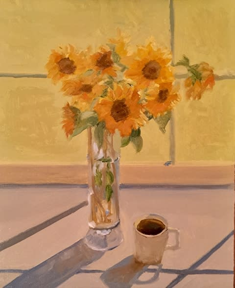 Morning sunflowers sold di93uc