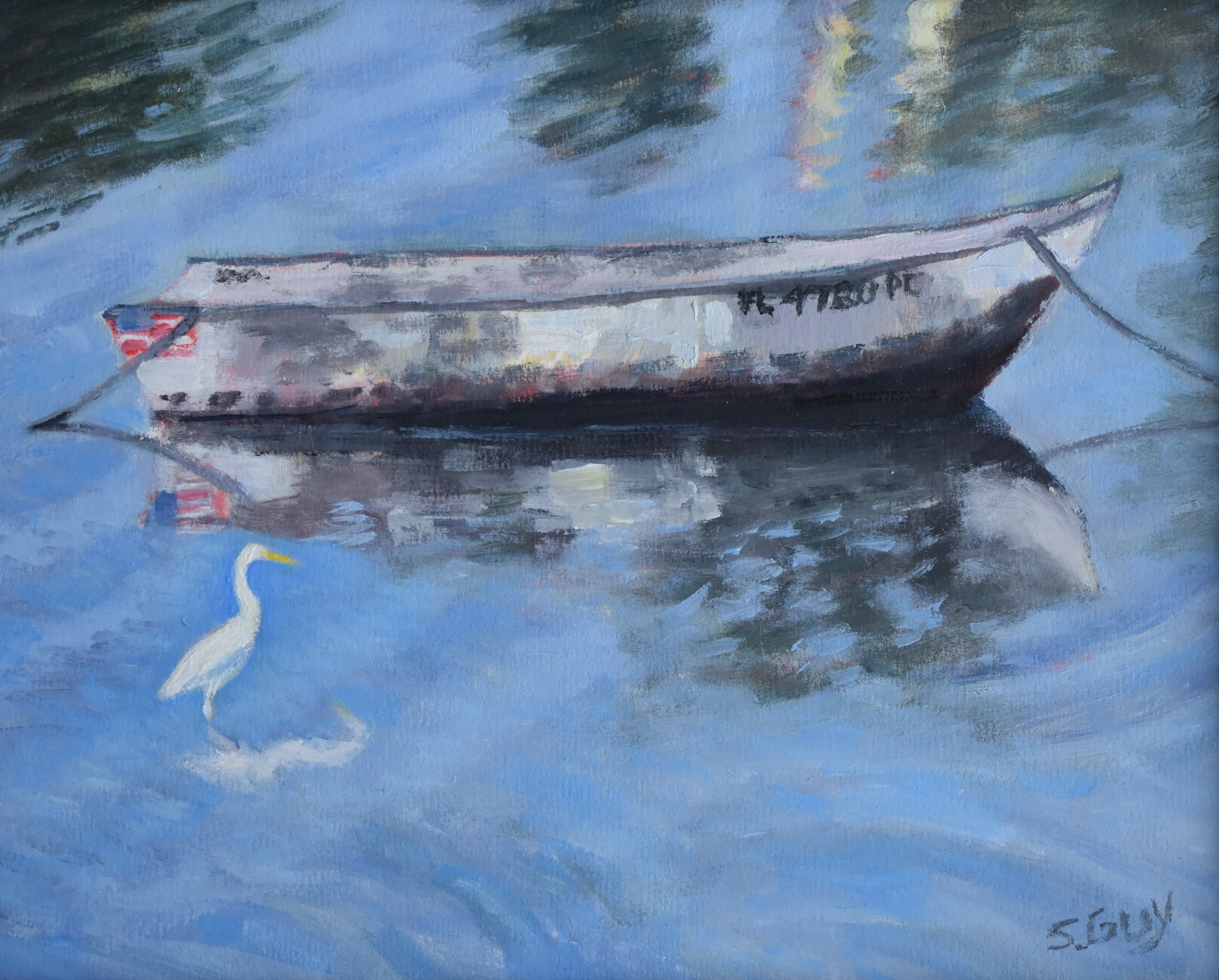 Ripples and reflections   original oil c9tj9h