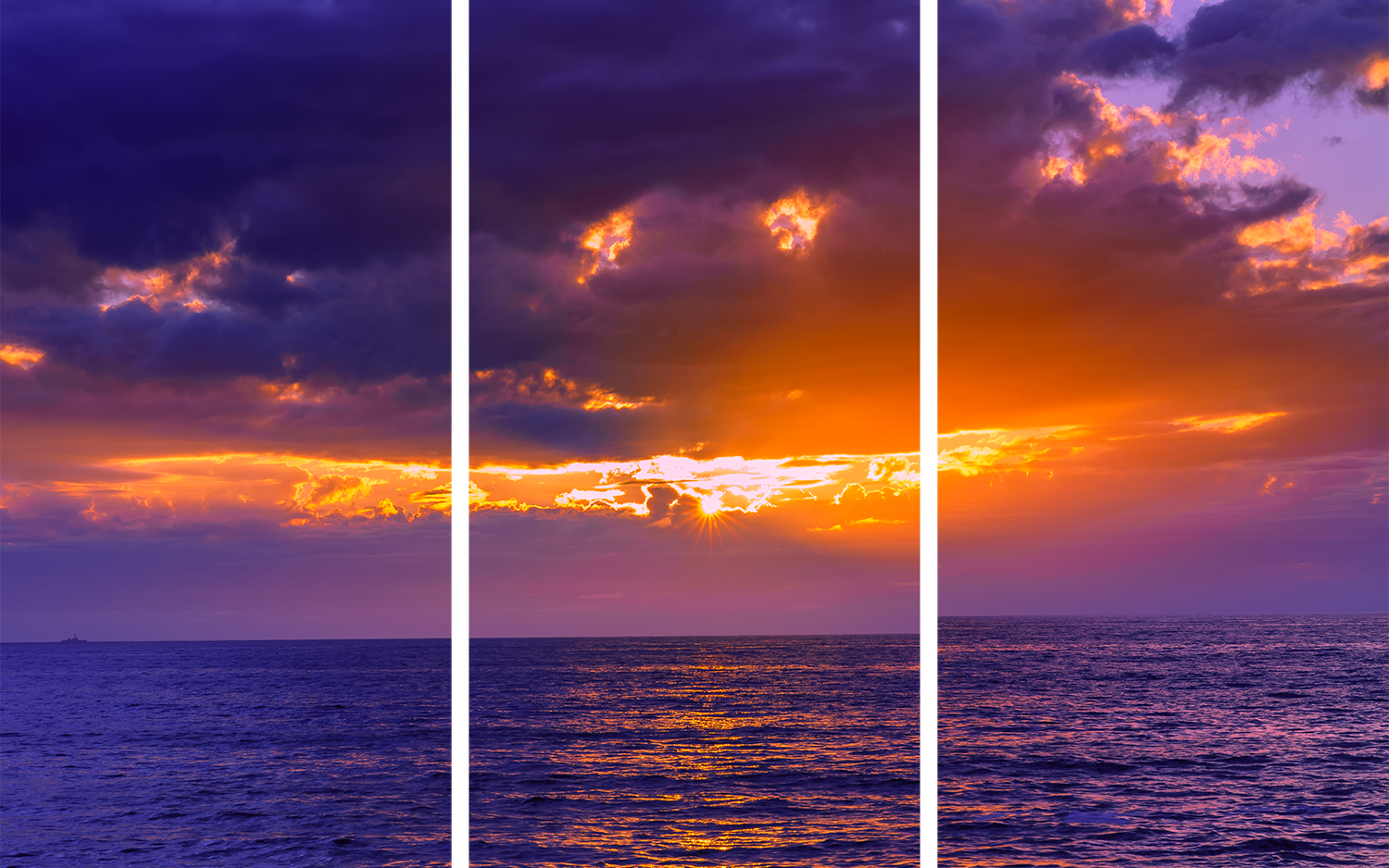 Sunset cliffs purple triptych u7yw3f