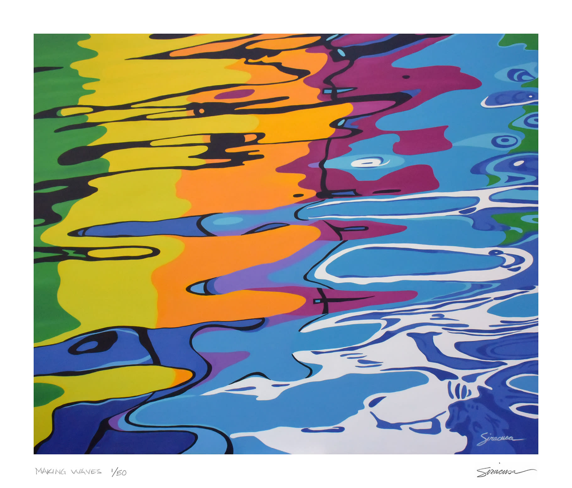 Making waves limited edition print ungrnv