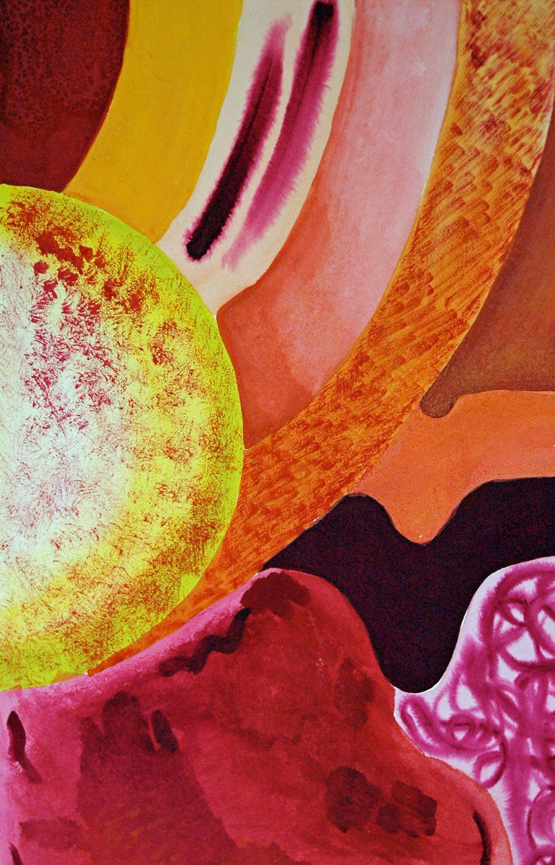 Your story   21 22 x 13.5 22   watercolour on paper mounted on board   resin coat rprrao