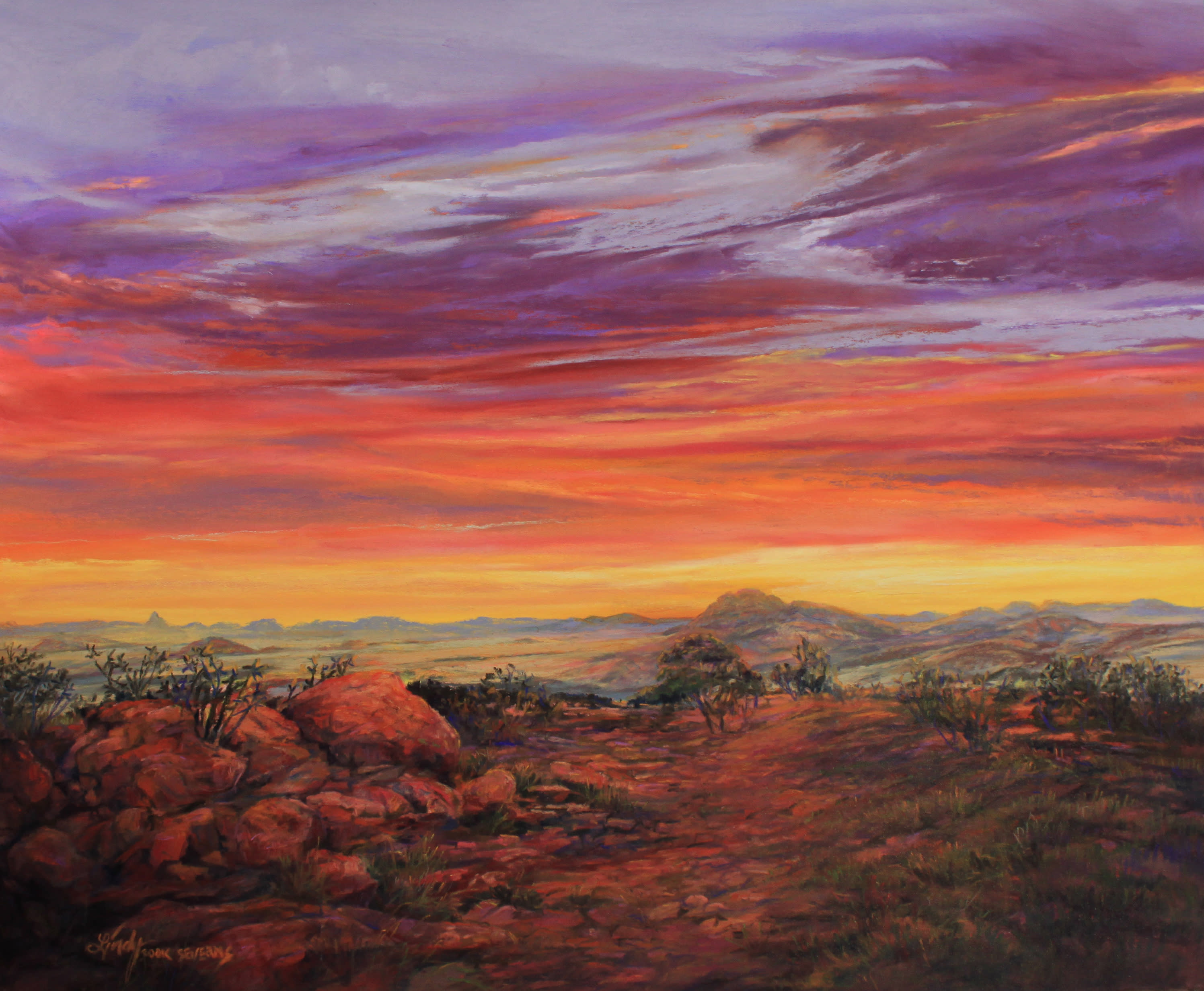33l13 daybreak across the top of texas 14x17pastel lindycseverns edited 1 cqfbto