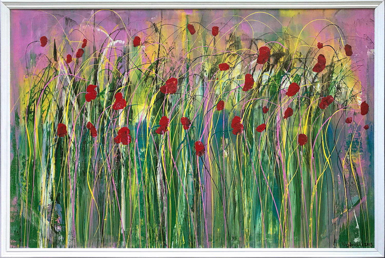 Poppies in the wind sm framed xhurq8