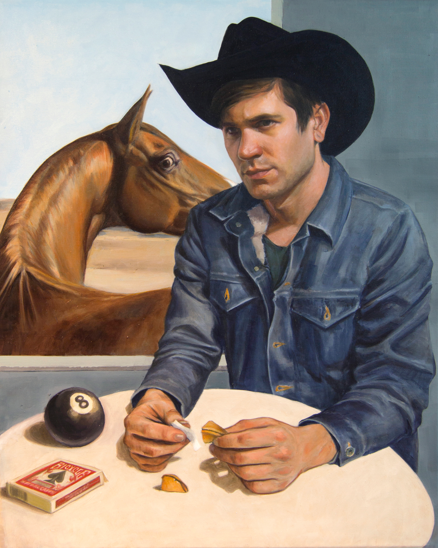 Cowboy reads fortune color change f2wfzp