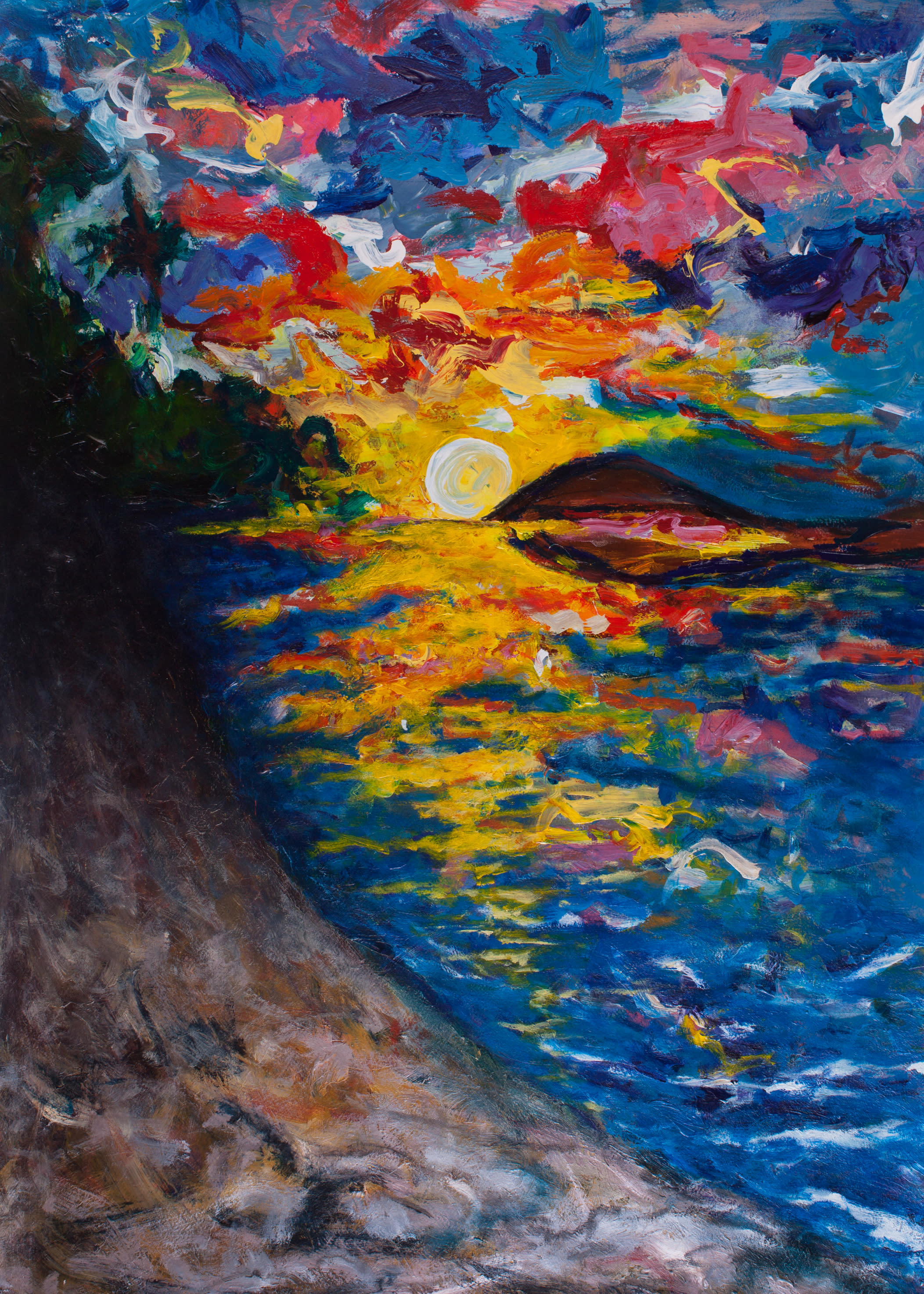Ocean sunset yfla3h