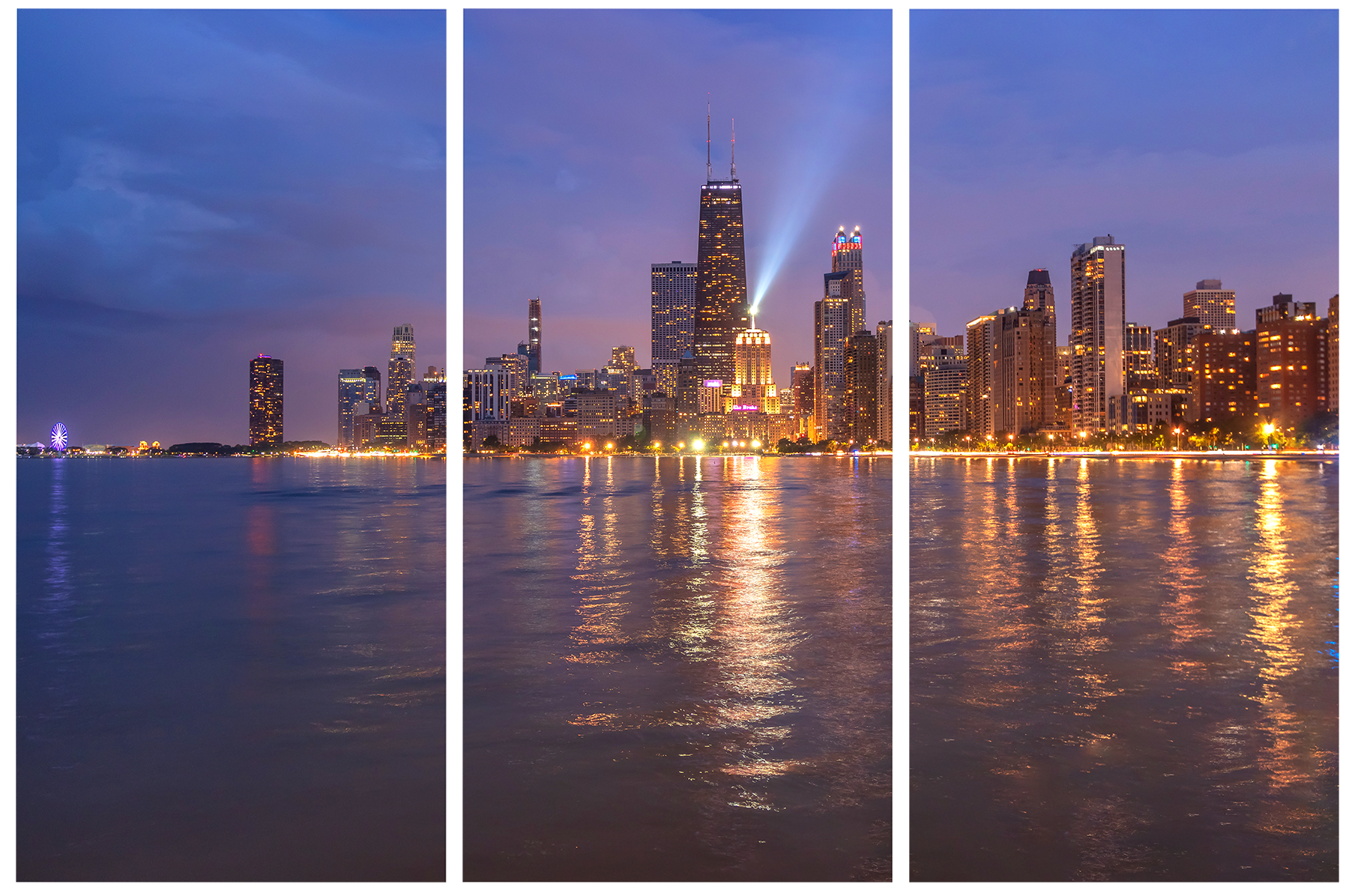 North avenue beach view of the chicago skyline gozt5y