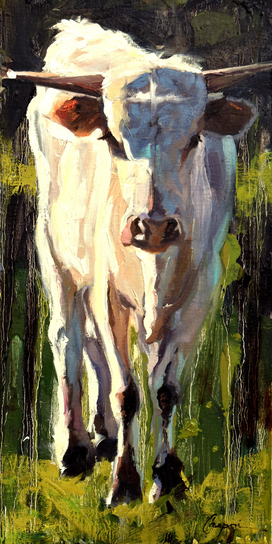 Bull calf 10x20 oil 2020 ys47bh