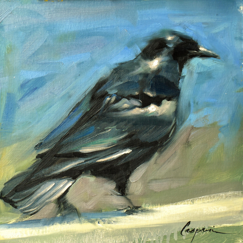 Crow 12x12 oil 2020 tr8mtv