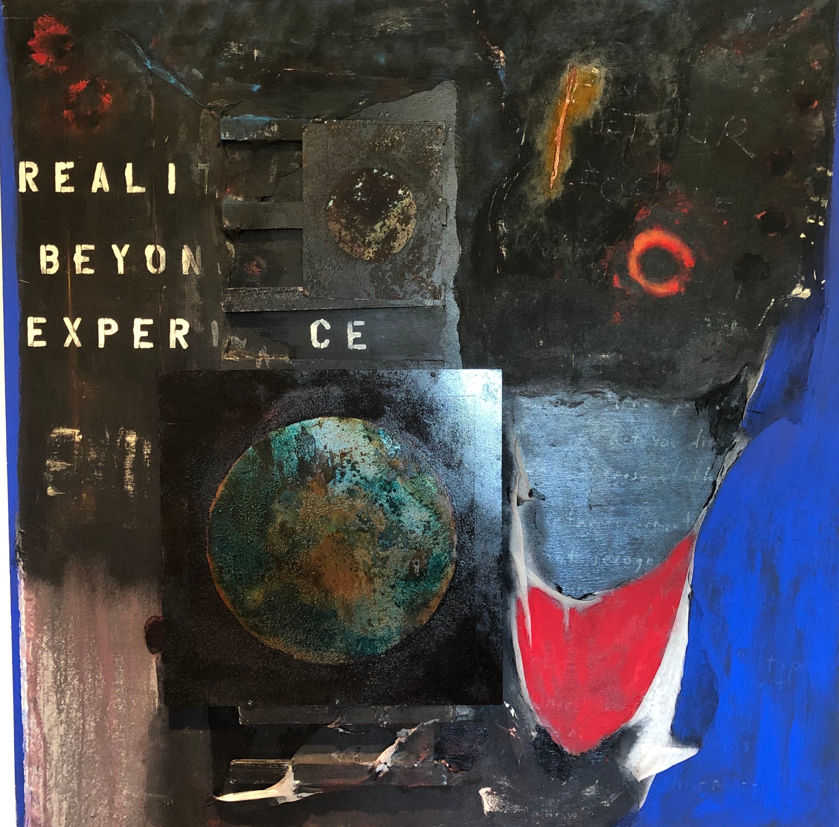 Reality is beyond experience mm on wood 60x60 albstg