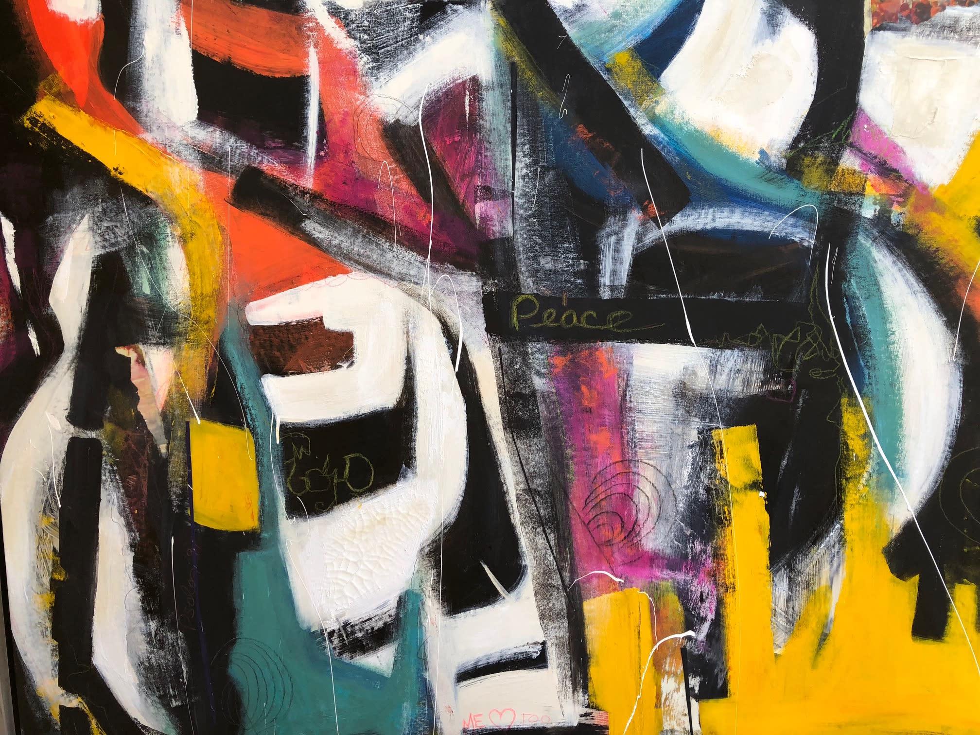 Deveuvealexis shoutout for peace 50 x62 acrylic and mixed media vecgyp