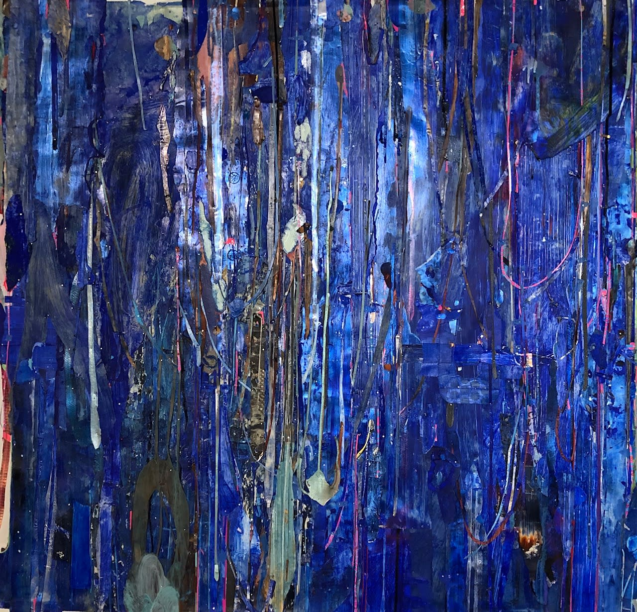 Composition in blue dzbmxc