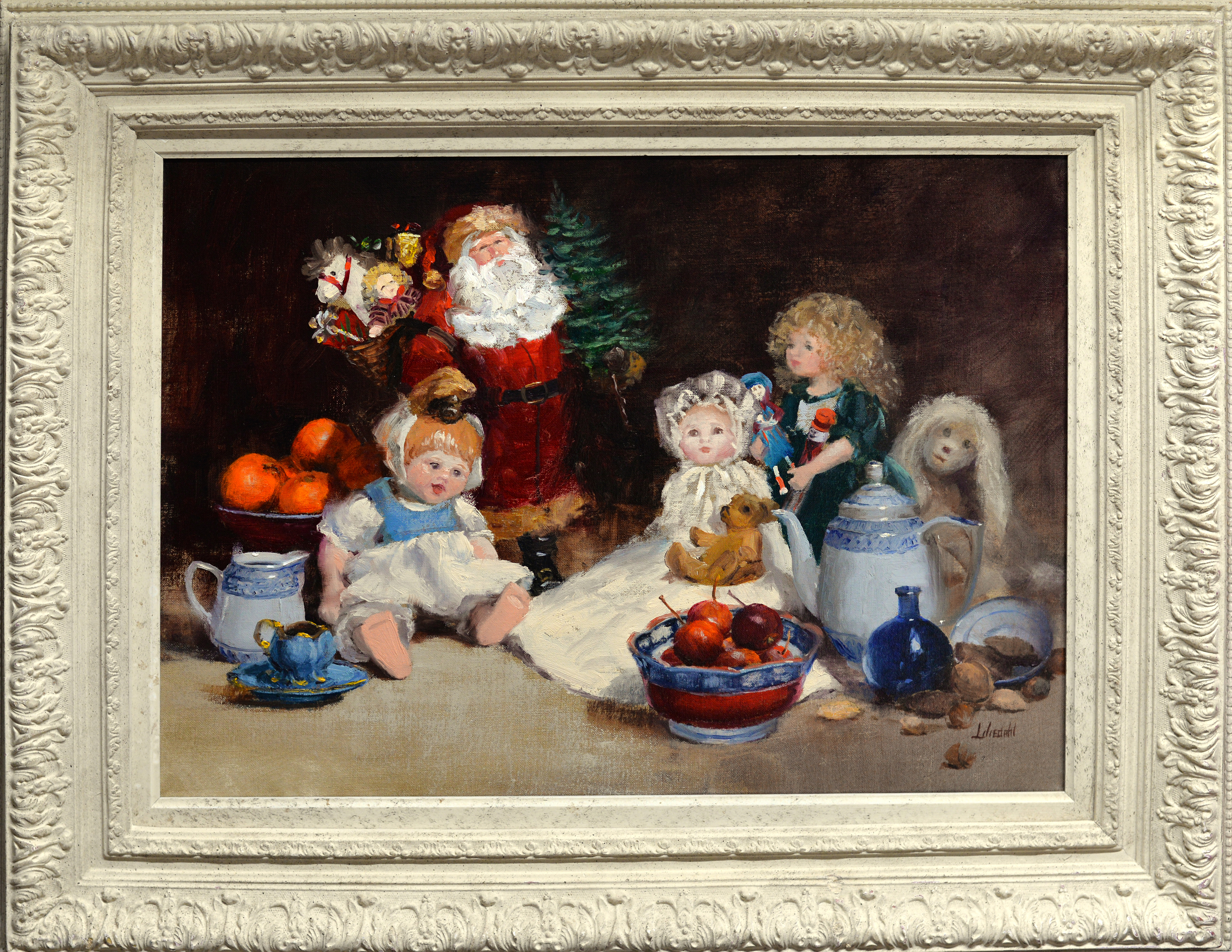Christmas dolls original framed d610 d7psr3