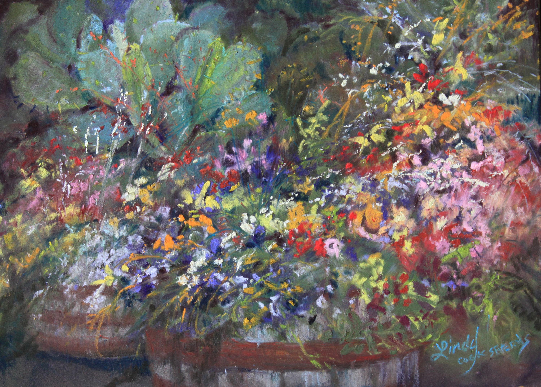 Cactus amid the flowers 5x7 pastel lindy c severns 3b13 web jvumtx