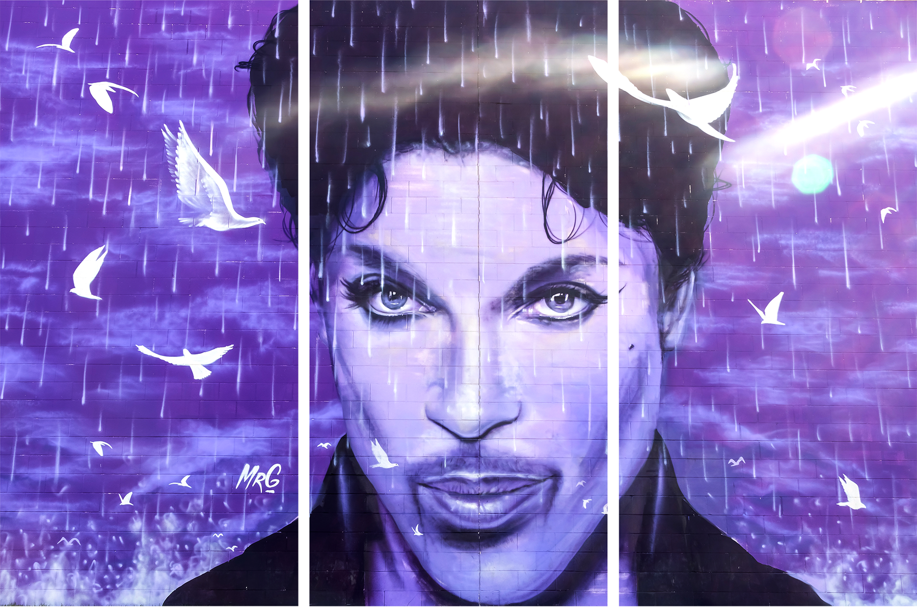 Prince mural at the chanhassen cinema mwfjgf