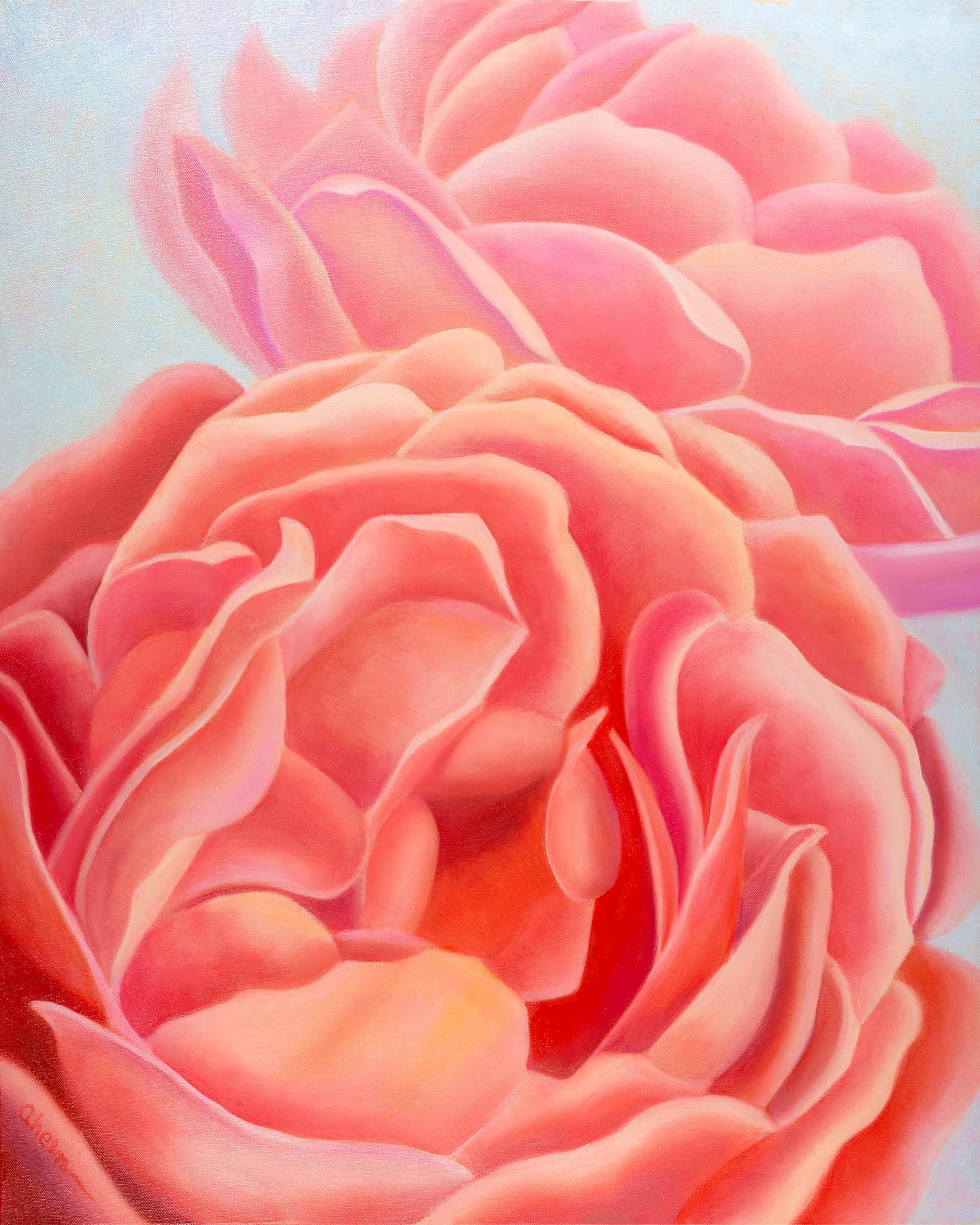 180330 ahern we are sisters coral roses 20x72 fk2cop
