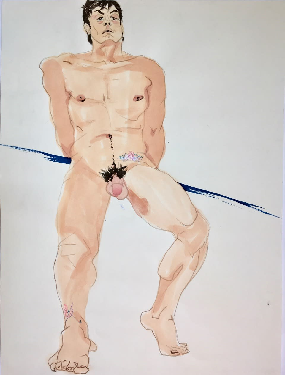 Esteban watercolor ink 18x24 ivo5sf
