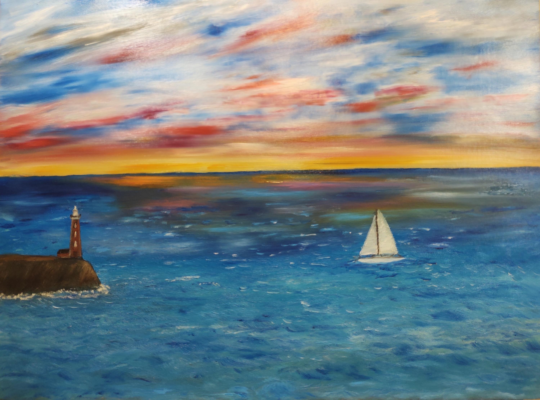 Sailing yacht sunset inpixio teypcn