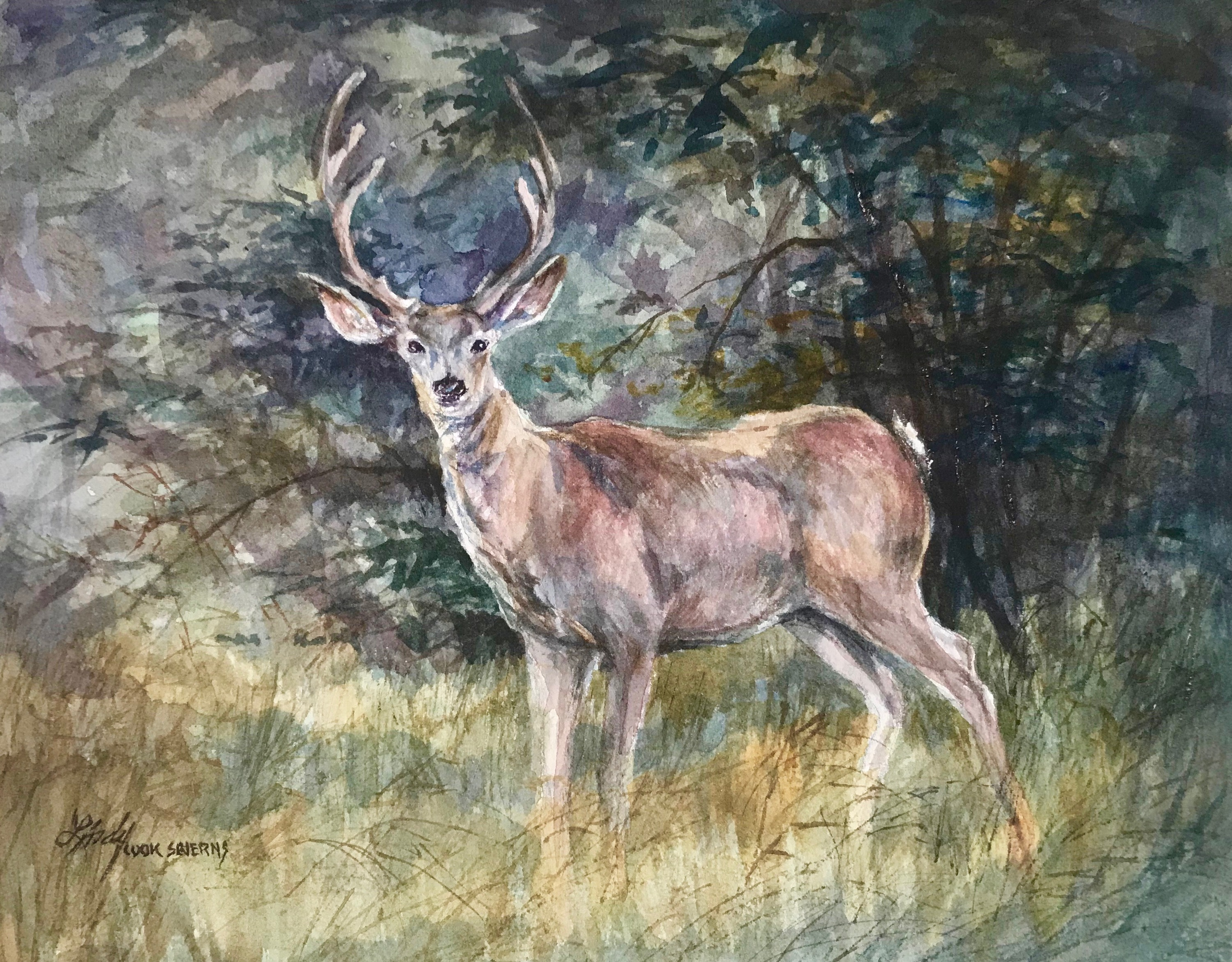 Fall velvet 8x10 watercolor lindy cook severns gsmfod