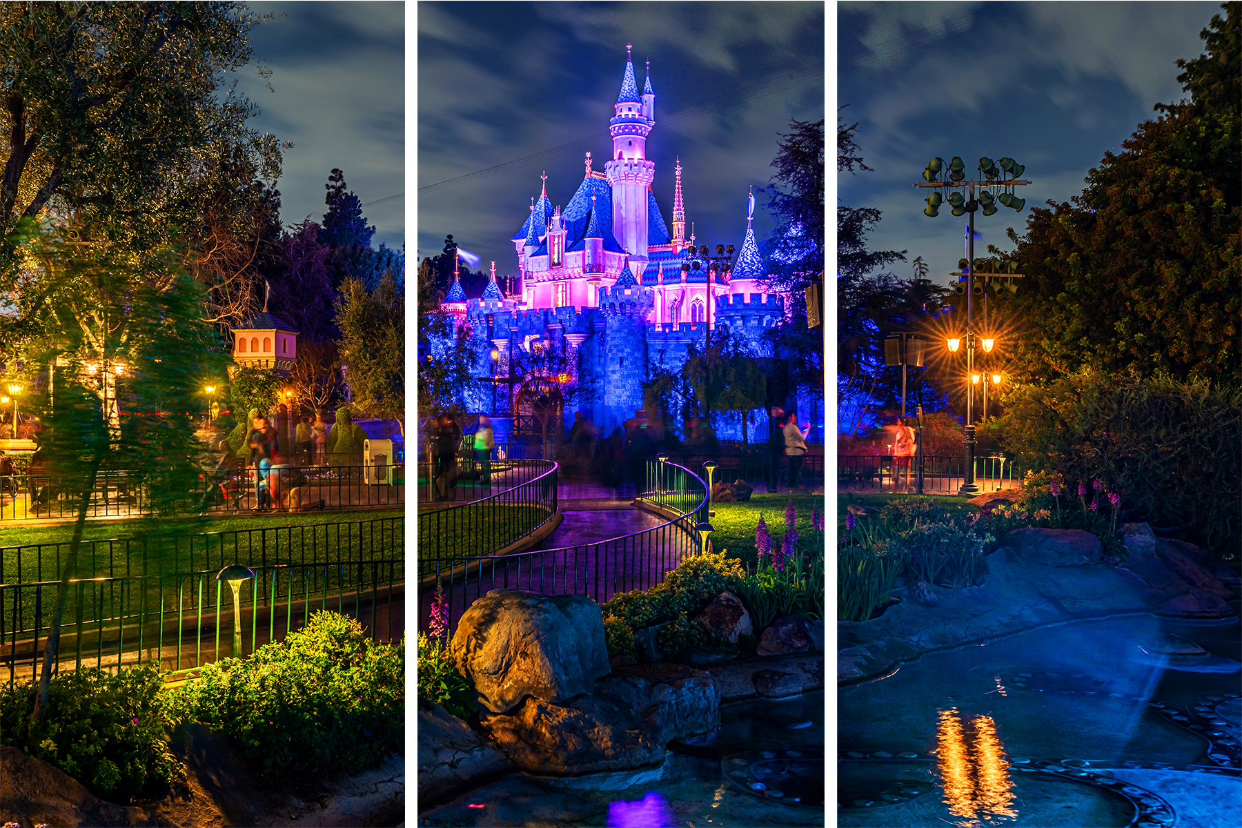 The path to sleeping beauty castle xcrgvb