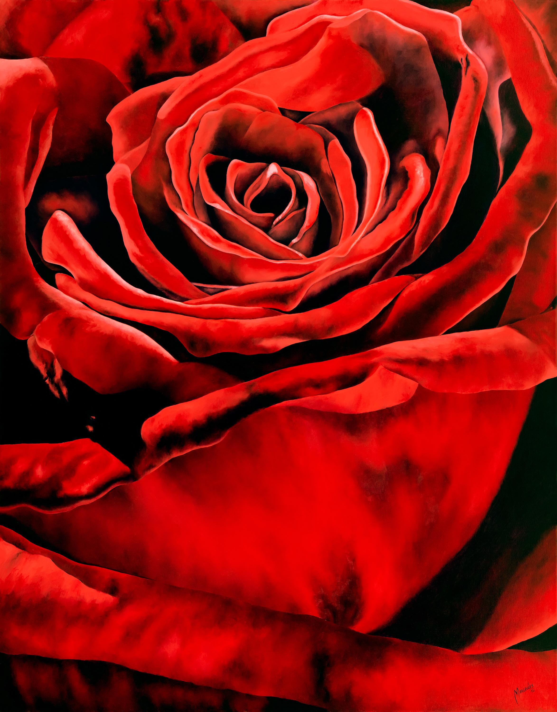 Rose stitched sized 36x28 1 kbjf6f