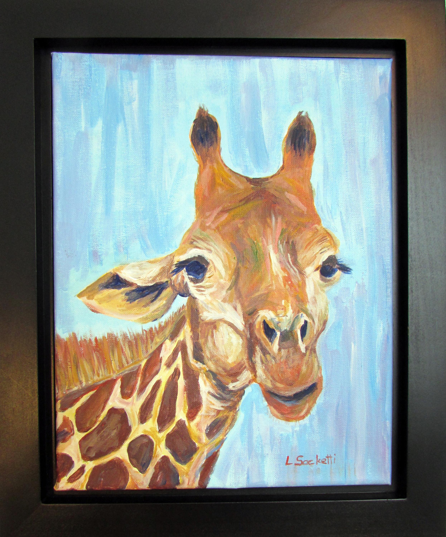 Giraffe framed c9iysv