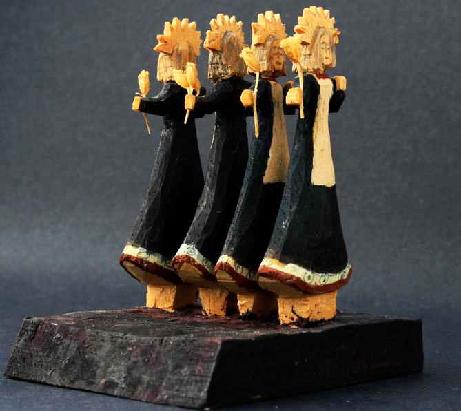 Lovato taos art company saint woodcarving santos miniature nuestra senora de dolores our lady of sorrows ldlblu