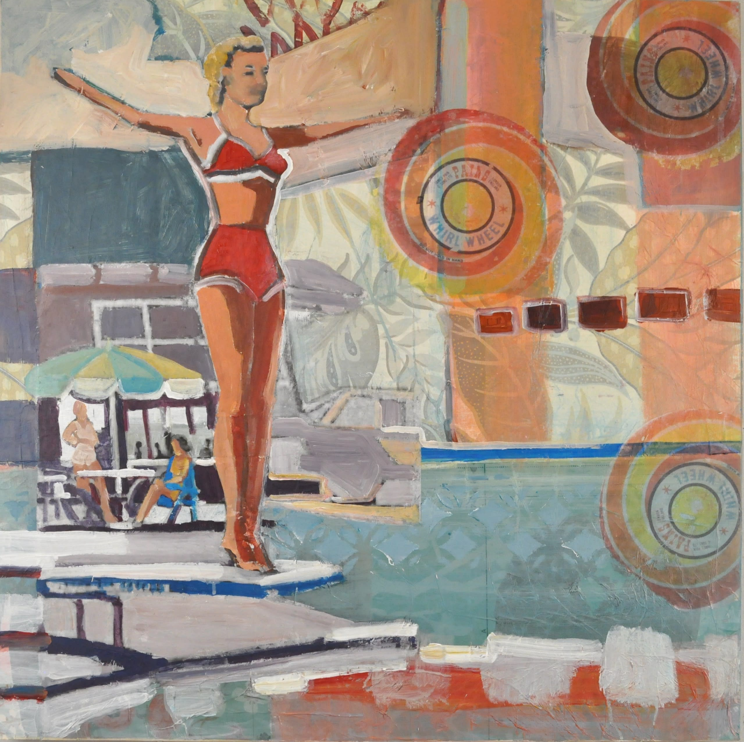 Bathing beauty 30x30 acwaat