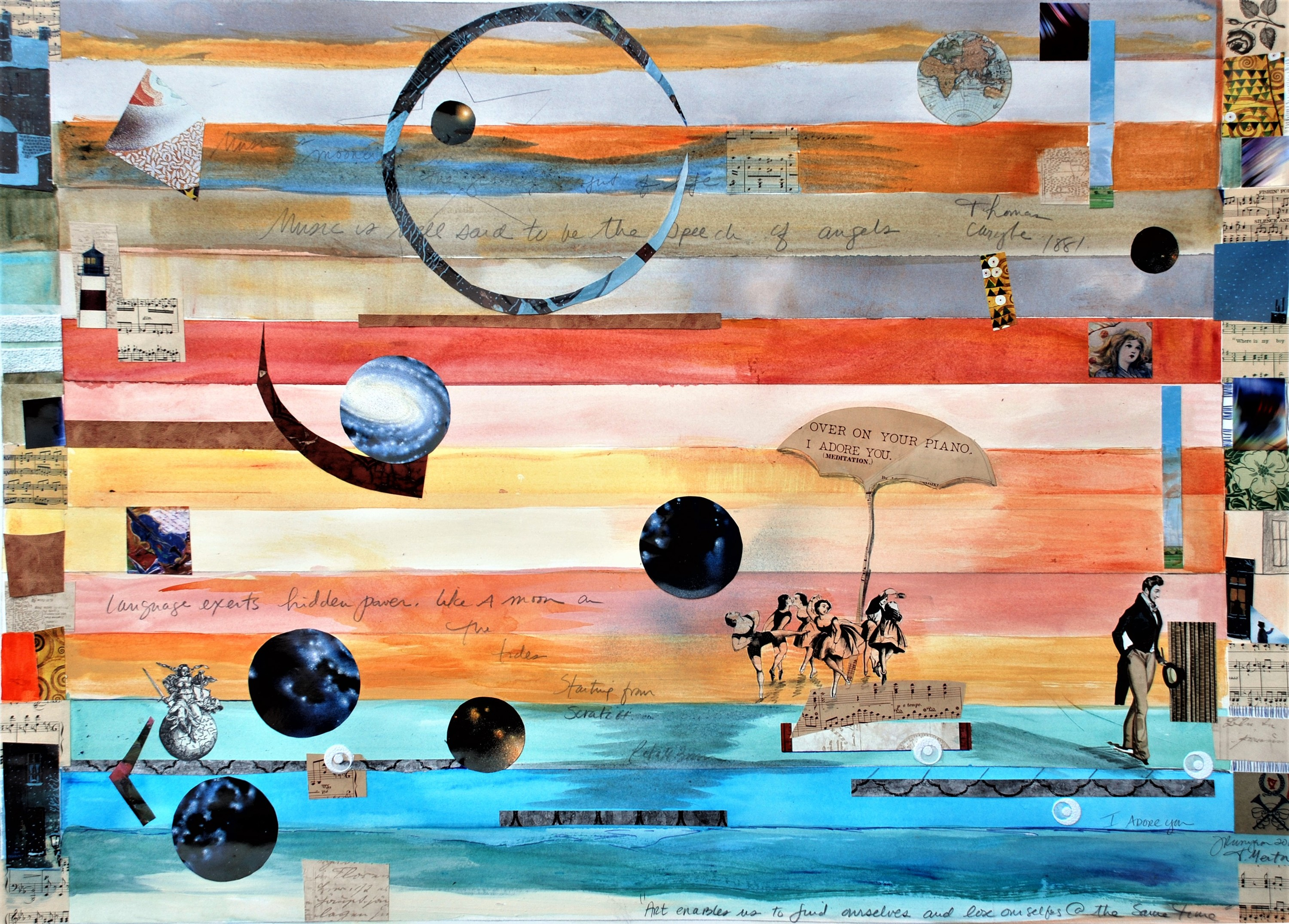 I adore you 2 mixed media collage on paper 40x29 ipwfh7
