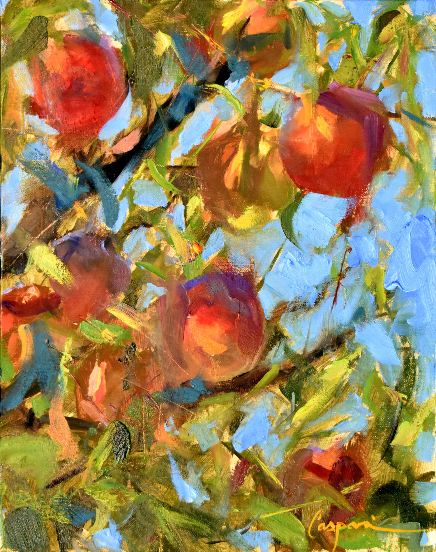 Peach paradise 11x14 oil 2020 oyhxea