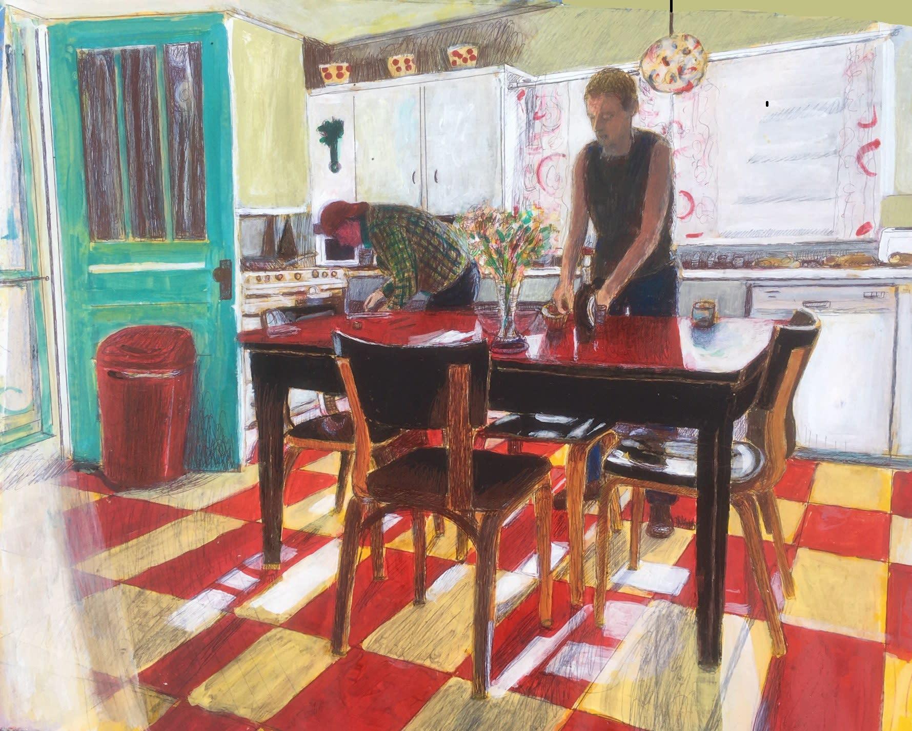 Kobrienkitchen26x21acylicprismacolorinkonpaper 1600 gktbhp