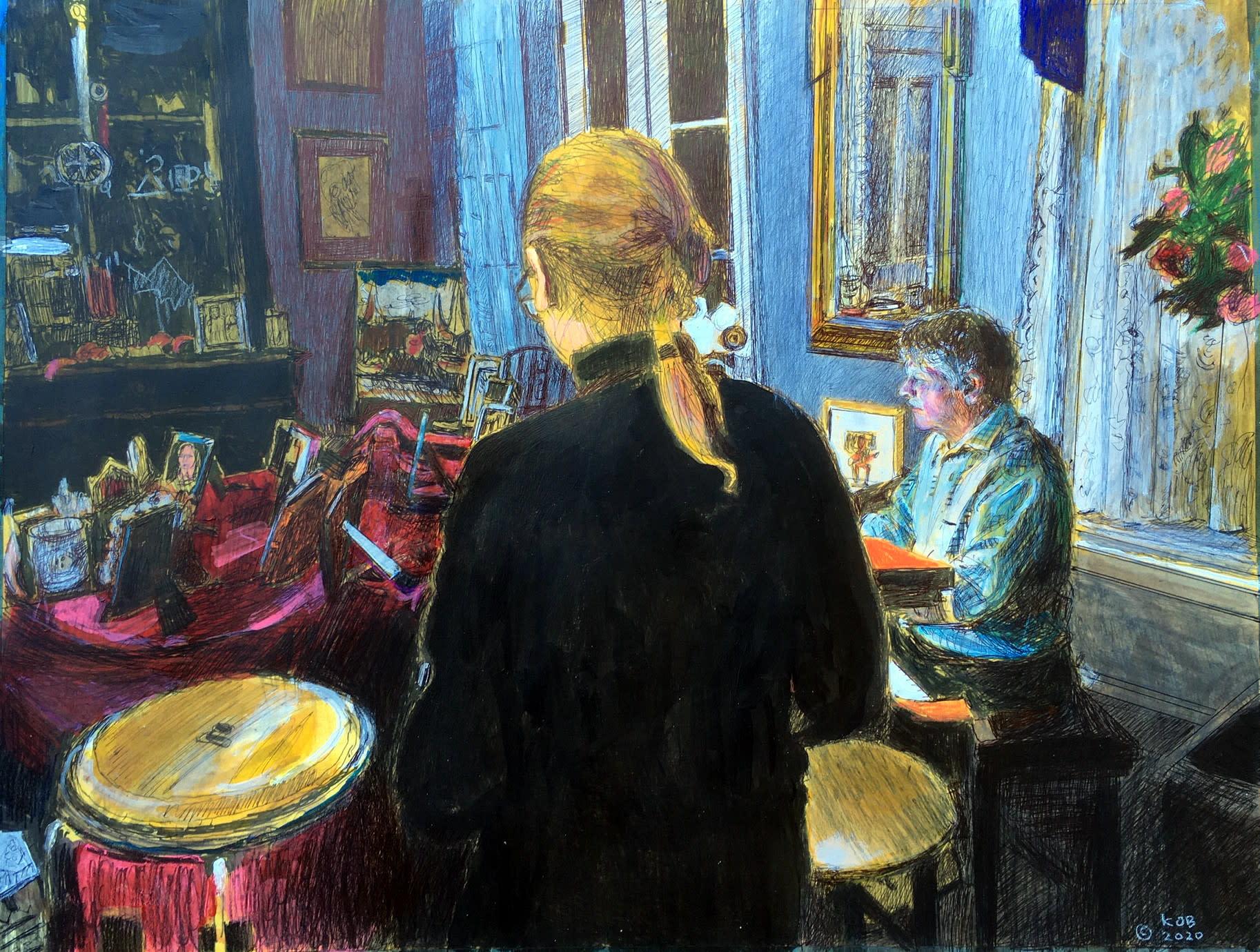 Kobrien piano music25x20acrylicprismacolorinkonpaper 1600 qoruae