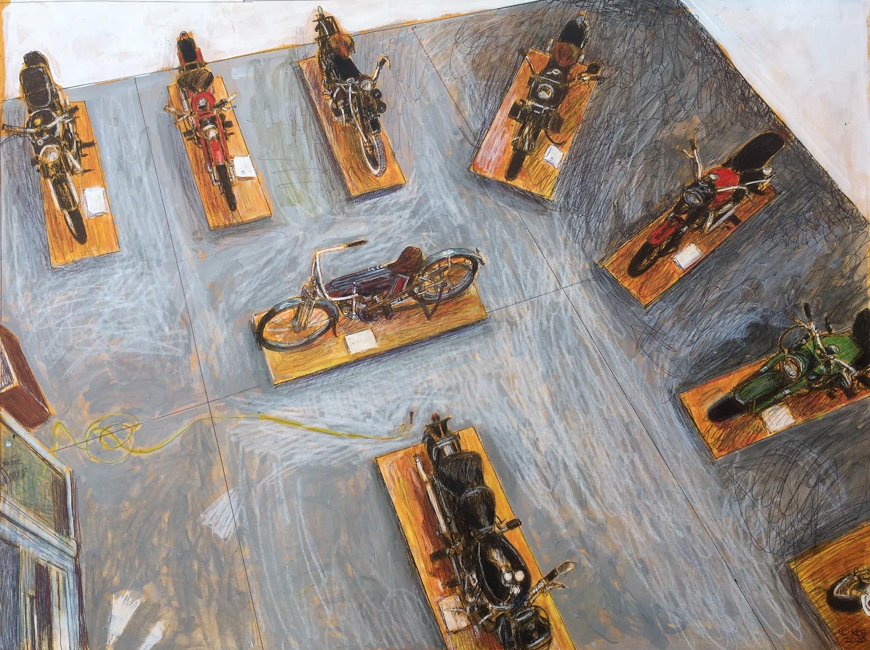 Kobrienbirds eye motorcycle exhibit23.5x18acrylicprismacolorinkonpaper 1600 bvbbq7