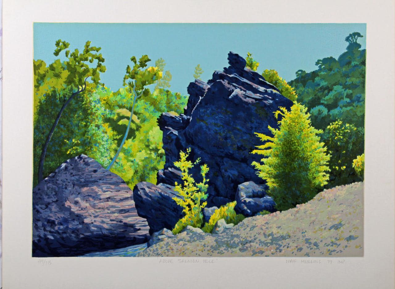 Above salmon hole serigraph wvponh